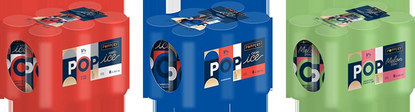 Poppers - Nouveaux emballage de 6 canettes